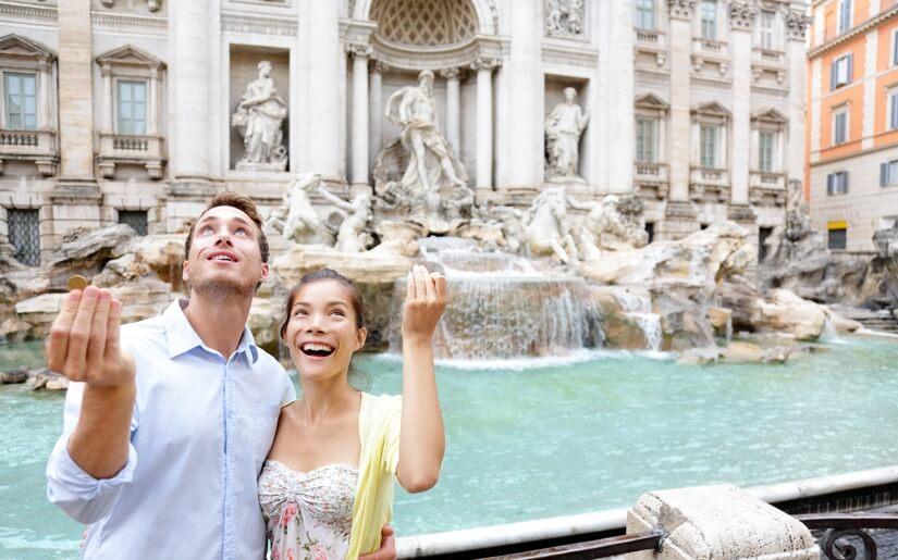 לטייל בין המזרקות של רומא